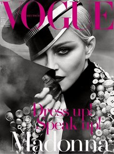 Madonna is the cover star of the April 2017 issue of Vogue Deutsch, the German edition of the Condé Nast fashion bible, featuring three different images shot by Luigi and Iango with style by Ariann… Vogue Magazine Covers, Fashion Magazine Cover, Fashion Cover, Vogue Covers, Madonna Vogue, Madonna 80s, Madonna Photos, Vogue Photography, Editorial Photography