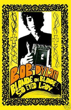 Folk Rock: Bob Dylan * Blonde on Blonde * Promotional Album Poster Circa 1967