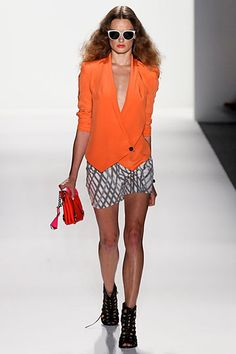 Orange Rebecca Minkoff jacket from Spring12 collection  <3