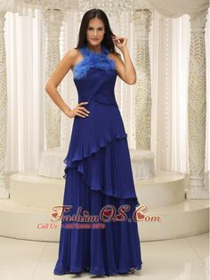Feather Halter Top and Pleat 2013 Mother of the Bride Dresses Royal Blue Halter Top Prom Dresses, Glitz Pageant Dresses, Gorgeous Prom Dresses, Royal Blue Prom Dresses, Prom Girl Dresses, Elegant Prom Dresses, Homecoming Dresses, Bride Dresses, Dresses 2013