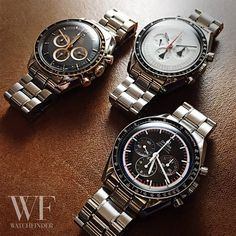 Got a real treat for this week's #SpeedyTuesday… not one, not two but THREE limited edition #Omega #Speedmaster #Moonwatches! You're welcome!