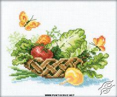 Esquemas de frutas en punto de cruz