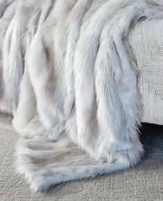 Siberian%20Fox%20Faux%20Fur%20Throw%20-%20Limited%20Edition Trendy Bedroom, Cozy Bedroom, Bedroom Ideas, Bedroom Inspiration, Bedroom Decor, Fur Decor, Faux Fur Rug, White Faux Fur Blanket, Fabulous Furs