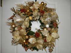 Golden Christmas by TheVictorianBouquet on Etsy