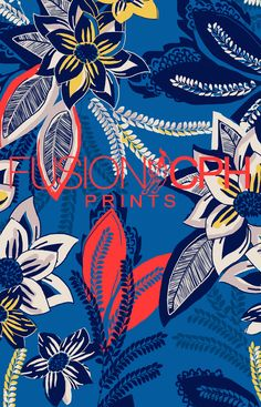 Tropical print.. from Fusion CPH print design studio from Copenhagen. We design all kind of prints for fashion and interior textiles. See some of our unique prints at Instagram: fusioncph or at www.fusioncph.com Textile Prints, Textiles, Mixed Prints, Copenhagen, Islands, Caribbean, Print Design, Print Patterns, Flora