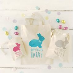Personalised easter gift bags mini easter treat bag easter personalised easter gift bags mini easter treat bag easter favour bag personalized favour easter egg hunt easter gift easter treat bag by til negle Image collections