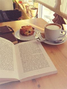 Sneaking in a few pages with my morning coffee...