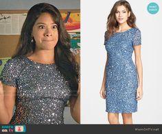 Bachelorette Jane's blue embellished mini dress on Jane the Virgin.  Outfit Details: http://wornontv.net/53037/ #JanetheVirgin