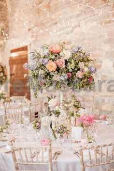 Romantic pastel country garden centrepiece - barn wedding flowers - Images by <a href=http://www.naomikenton.com target=_blank>Naomi Kenton</a> #weddings #wedding #marriage #weddingdress #weddinggown #ballgowns #ladies #woman #women #beautifuldress #newlyweds #proposal #shopping #engagement