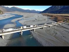 Spectacular drone video - Trains in New Zealand high country