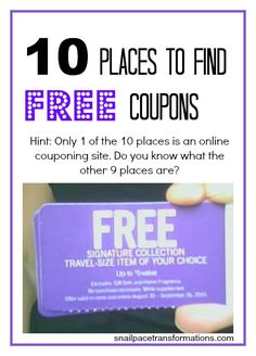 You can find free coupons in way more places than just printable coupon sites.