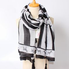 >> Click to Buy << 2017 New Arrival Winter Fashion Women High Quality Zebra Horse White and black vertical stripe Long Size 180cm*100cm Scarf #Affiliate
