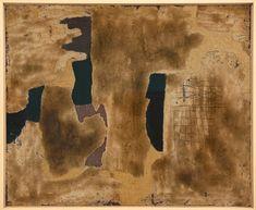 "Alberto Burri ""Sabbia"" 1952 Tecnica mista, X 90 cm Contemporary Artists, Modern Art, Alberto Burri, Guernica, Italian Painters, Mixed Media Artwork, Figure Painting, Art World, Collage Art"