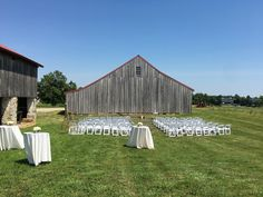 Historic Penn Farm Ceremony set up, June wedding