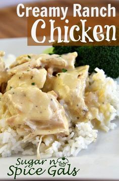 Creamy Ranch Crock Pot Chicken: 6 chicken breast, 2 Can oz) cream of chicken soup, cup sour cream, 1 package ranch dressing mix (Hidden Valley), to taste seasoning salt Crockpot Dishes, Crock Pot Slow Cooker, Crock Pot Cooking, Slow Cooker Recipes, Cooking Recipes, Crockpot Meals, Cooking 101, Crockpot Stuffing, Cream Of Chicken Soup
