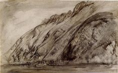 Mountains of Villeneuve (Near the Eastern End of the Lake of Geneva) (1846) by John Ruskin