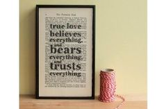 Word Art - Charles Dickens quote by Wall Envy Art. Printed on antique copies of Dickens books
