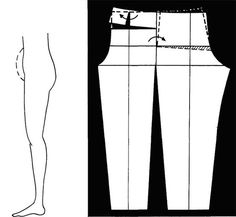 How to change pants for a big belly to translate from Russian - altering pants Altering Pants, Altering Clothes, Sewing Lessons, Sewing Class, Sewing Pants, Sewing Clothes, Techniques Couture, Sewing Techniques, Clothing Patterns