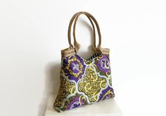 Dutch wax fabric bag African wax print tote by PippiesDesign