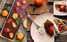 No-bake Chocolate Strawberry Tart by justlovecookin #Strawberry #Chocolate #Tart #justlovecookin