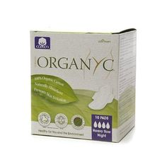 Organyc Cotton Feminine Night Pads - Folded with Wings - 10 Pack - 100% Organic CottonNaturally AbsorbentPrevents Skin Irritation10 PadsHeavy Flow NightHealthy for You and the Environment 10 Menstrual PadsOrganyc is ideal for women who want to avid any contact with synthetic material s on the skin and feel fresh, safe and clean, while choosing a hypoallergenic product without any negative effect on the environment. Over 80% of women who react to contact with plastic and synthetic materials…
