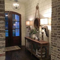❤️Love Love the mirror & hook!! Also love the sconces, pretty room!!❤️ Shiplap