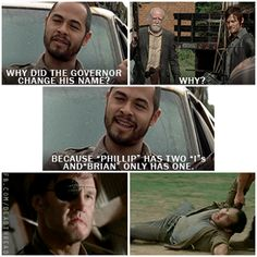 The Walking Dead // Why did the Governor change his name?