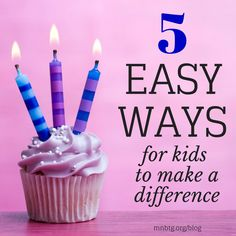5 Easy Ways for Kids to Make a Difference | Bridging the Gap #kindness #kids #rak