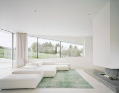 White Sectional Sofa Furniture as Living Room Interior Finished Among Modern Decoration Also Used Minimalist Fireplace Design Ideas