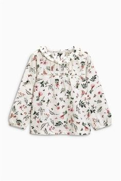 Buy Floral Print Frill Neck Top (3mths-6yrs) from the Next UK online shop