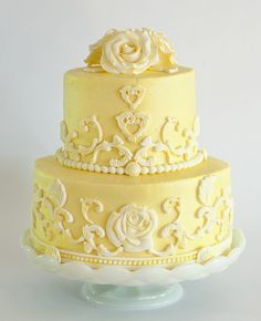 baroque cake | yellow roses cake this is a lemon cake i made for my mom s birthday my ...