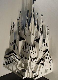 Ingrid Siliakus — Sagrada Familia, inspired by A. Gaudi his masterpiece located in Barcelona, Spain. 21 x 30 x 15, 2001.