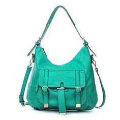 Urban Expressions Sundance Handbag 2014 New Arrival - Emerald Green Vegan Leather Tote Bag ON SALE $69 - Reg. Price $105.