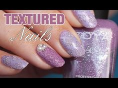 How to create textured nails using stencils/nail vinyls! Lavender textur...