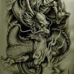 Oriental Dragon Tattoo Style (31)