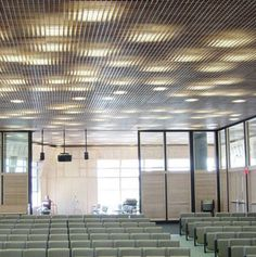 Panneau pour faux-plafond en bois / grillagé Getech