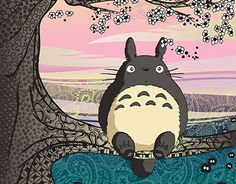 """Check out new work on my @Behance portfolio: """"Totoro funart illustration"""" http://be.net/gallery/35380317/Totoro-funart-illustration"""