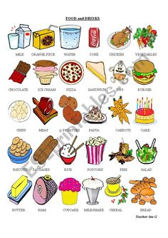 This is a pictionary useful in learning food and drinks. I hope you like it. Have a nice week!