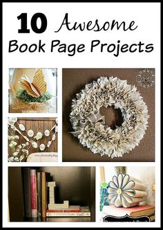 You'll love these book page projects! The fact that book pages are paper makes them easy to use in a variety of projects, and the text on the pages adds an extra level of visual interest not found in normal solid-color paper.