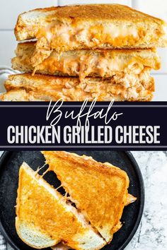 This Buffalo Chicken Grilled Cheese Sandwich is the perfect quick and easy lunch or dinner recipe! Ready in under 20 minutes and packed with all the cheese, cooked chicken, plus buffalo sauce. Perfect for leftover rotisserie chicken! Buffalo Chicken Grilled Cheese, Buffalo Chicken Recipes, Buffalo Chicken Sandwiches, Cooked Chicken, Best Chicken Recipes, Rotisserie Chicken, How To Cook Chicken, Healthy Sandwich Recipes, Sandwich Ideas