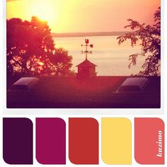 Sunset color palette
