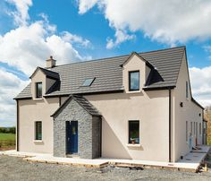 The builder's view - why passive house doesn't cost extra - passivehouseplus. House Designs Ireland, Farmhouse Renovation, Passive House, New Builds, House Front, Building A House, Exterior, Houses, Mansions