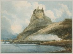 Lindisfarne Castle, Holy Island, ca. 1797 Thomas Girtin (British, 1775–1802) Watercolor on rough cartridge paper; 15 x 20 1/2 in. (38.1 x 52 cm) Rogers Fund, 1906 (06.1051.1)