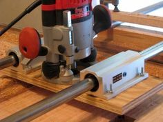 Linear bearings make the sled very accurate. They can be purchased on E-Bay for much less than new ones. These were$50.