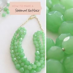 DIY: GREEN NECKLACE