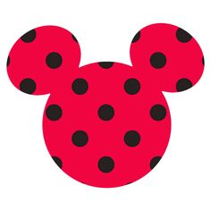 Springs Creative Disney Mickey Ears Small, Red with black dots, Adhesive Printed Burlap, Pack of 6 Disney Mickey Ears, Mickey Head, Mickey Minnie Mouse, Cute Disney, Printing On Burlap, Printed Burlap, Bible Crafts For Kids, Banner, Rock Painting Designs
