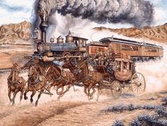 "Reluctant for Progress Stagecoach races Locomotive 1000 piece Jigsaw Puzzle    SunsOut Jigsaw Puzzles will provide a challenge for one and all.    Perfect for collectors to mat and frame.    Art by Les Ray    Size: 20"" x 27""    Made in the USA, by SunsOut.    Eco-Friendly, Soy Based Inks & Recycled Board.    Recommended Ages: All    Consumer Product Safety Notice:  WARNING: CHOKING HAZARD  Small parts Not for children under 3 years      SO25281  Regular price: $16.00  Sale price: $14.40"