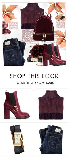 """""""Cozy Chic"""" by dragananovcic ❤ liked on Polyvore featuring Prada, Cédric Charlier, Tory Burch, AG Adriano Goldschmied, Zoya and MICHAEL Michael Kors"""