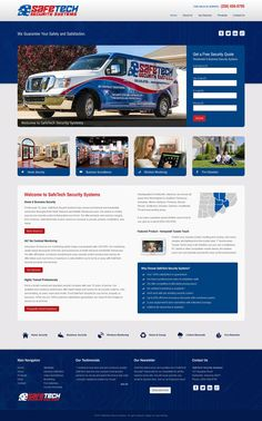 Custom web design for SafeTech Security Systems in Huntsville, Alabama. Built with #Joomla CMS using #Bootstrap responsive design technology.