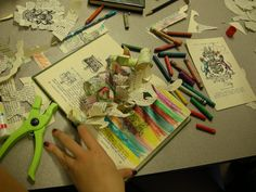 Altered Book Sculptures... turn an old book into a work of art through cutting, folding, coloring and much more!